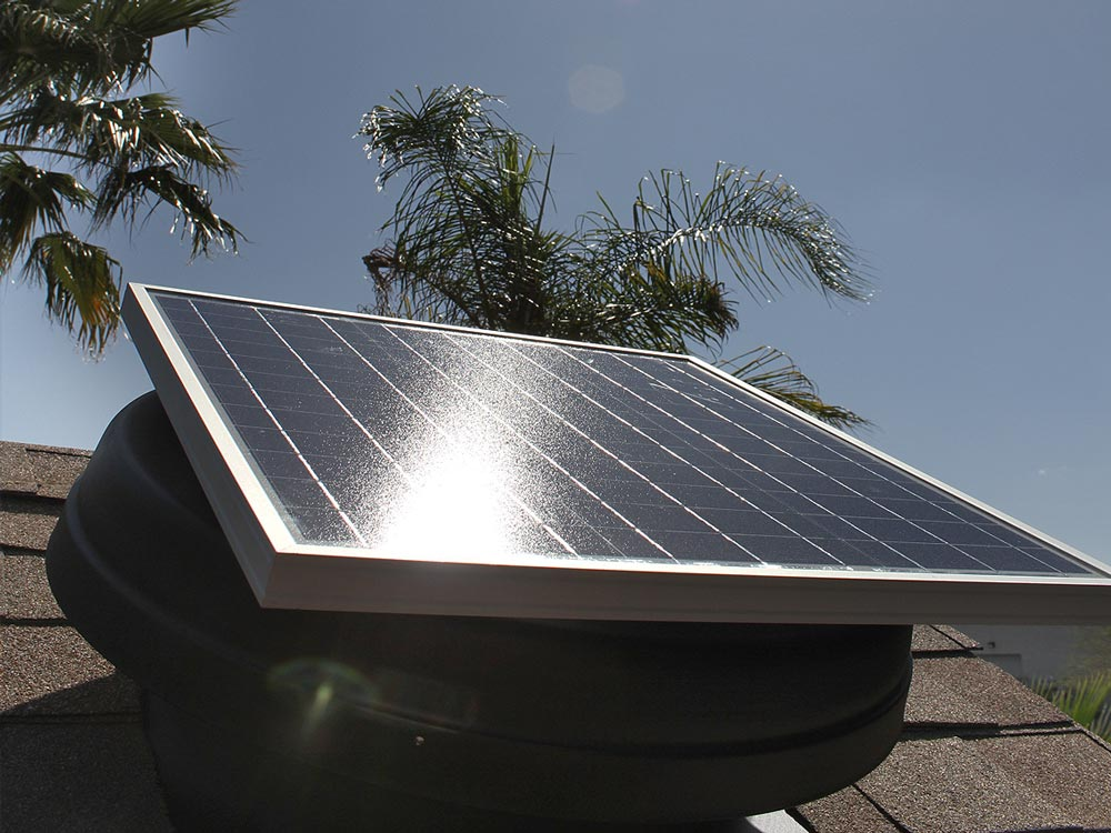 Solar Attic Fan Installation