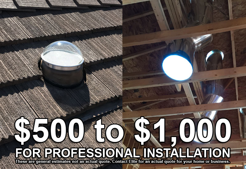 How Much Do Solar Tubes Cost Tubular Skylights Elite Solar Lighting