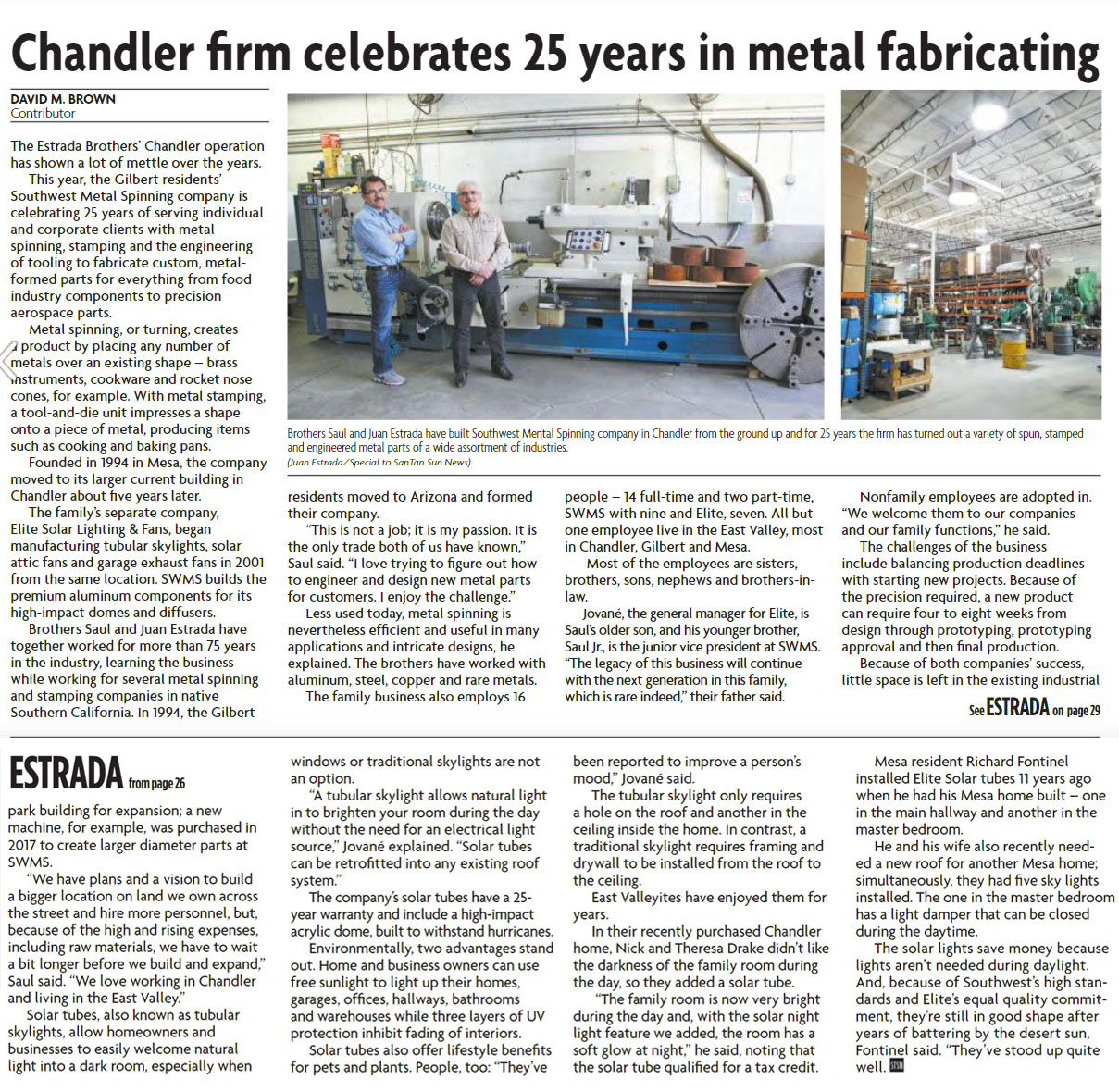 Chandler Firm Celebrates 25 Years in Metal Fabrication
